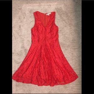 Francescas Red Orange Dress